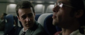 Narrator: Tyler, you are by far the most interesting single-serving friend I've ever met. ... See, I have this thing: everything on a plane is single-serving ...