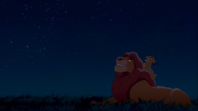 - We're pals, right? - Right.  - And we'll always be together, right?  - Simba, let me tell you something that my father told me. Look at the stars. The great kings of the past look down on us from those stars. So whenever you feel alone, just remember that those kings will always be there to guide you. And so will I.