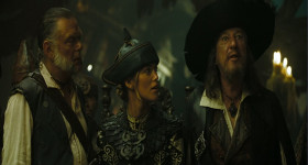 - You've always run away from a fight. - Have not. - You have so. - Have not. - You have so, and you know it. - Have not. Slander and calumny. I have only ever embraced that oldest and noblest of pirate traditions. I submit that here now that is what we all must do. We must fight to run away.