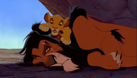 - Hey, Uncle Scar. When I'm king, what'll that make you? - A monkey's uncle.