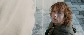 Lord Denethor is Boromir's father. To give him news of his beloved son's death will be most unwise. And do not mention Frodo or the Ring. And say nothing of Aragorn either. In fact, it's better if you do not speak at all, Peregrin Took.
