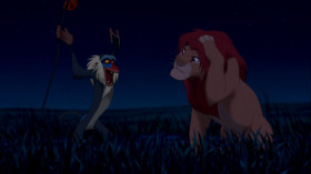 - I know what I have to do, but going back means I'll have to face my past. I've been running from it for so long. [Rafiki hits Simba on the head] - Ow! Jeez! What was that for? - It doesn't matter. It's in the past. - Yeah, but it still hurts. - Oh, yes, the past can hurt. But the way I see it you can either run from it or learn from it.