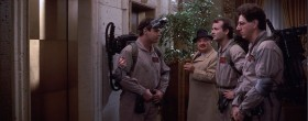 - What are you supposed to be, some kind of a cosmonaut? - No, we're exterminators. Somebody saw a cockroach up on 12th.  - That's gotta be some cockroach. - Bite your head off, man.
