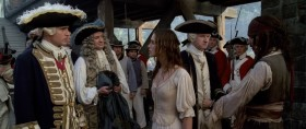 - Commodore, I really must protest. Pirate or not, this man saved my life. - One good deed is not enough to redeem a man of a lifetime of wickedness. - Though it seems enough to condemn him.