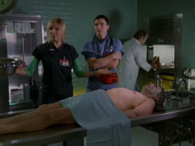 So, Doug, this is the morgue! It's cute, the little toe-tag. Like a present.