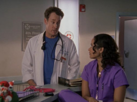 - I got two minutes left on my break, how long is this surgery gonna take? - Carla, cut the guy some slack. Surgery is not as easy as it looks. I mean, he's gotta make the incision, cut the wrong artery... Panic, collapse into a ball of tears in the corner, and after all that he's gotta go wash up... Check the board, and find out who he'll be killing after lunch. It's... a grind.