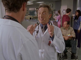 What has two thumbs and still doesn't give a crap? Bob Kelso. I though we'd met.