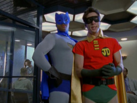 - There's my dynamic duo! - Holy inferiority complex, Batman! How low is my self-esteem that I'm the sidekick in my own fantasy?