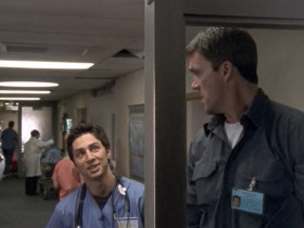 - The door is broke. Probably the fifth time or so it don't open. - Maybe a penny's stuck in there. - Why a penny? - I don't know. - Did you stick a penny in there? - No, I was making small talk. - If I find a penny in there, I'm taking you down.